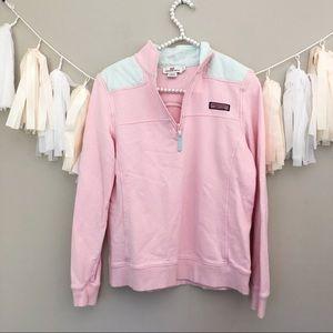 Vineyard Vines Blush Pink Shep Shirt Half Zip